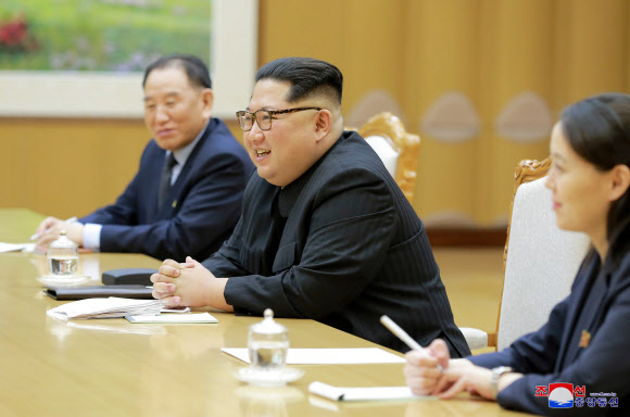 대북 특사단 만난 김정은 위원장