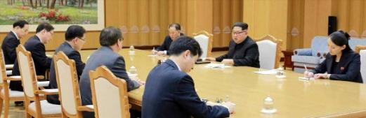 대북특사단 만난 김정은 위원장