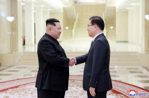 김정은 위원장 만난 정의용 수석 대북특사