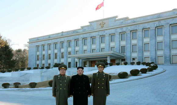 특사단과 김정은 면담 열린 조선노동당사 본관