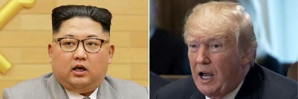 김정은(왼쪽) 북한 노동당 위원장·도널드 트럼프 미국 대통령. AFP 연합뉴스