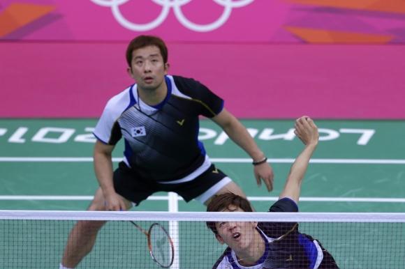 2012 런던 올림픽에서 이용대와 남자복식조를 이뤄 동메달을 땄던 정재성 선수.  AP 연합뉴스