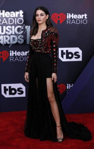 영화배우 제나 드완 테이텀이 11일(현지시간) 미국 캘리포니아주 잉글우드에서 열린 '2018 아이하트라디오 뮤직 어워드(iHeartRadio Music Awards)'에 참석해 포즈를 취하고 있다. 로이터 연합뉴스