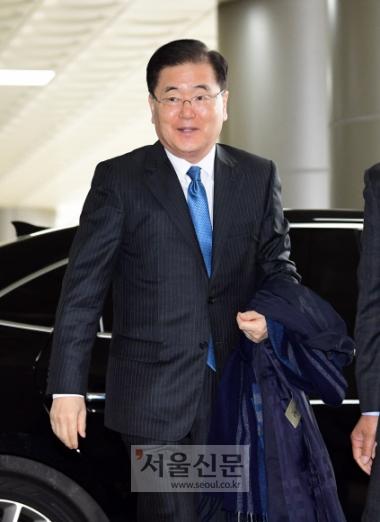 정의용 청와대 국가안보실장. 정연호 기자 tpgod@seoul.co.kr