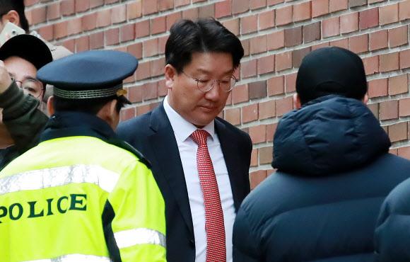 MB 자택 향하는 자유한국당 권성동 의원