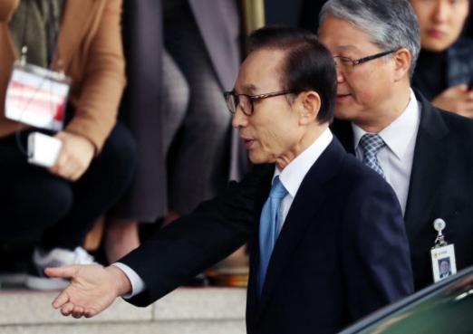 [MB소환] 포토라인으로 향하는 이명박 전 대통령