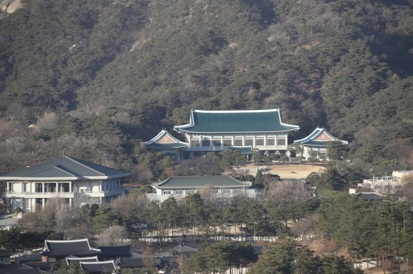 청와대 관저의 모습.  연합뉴스