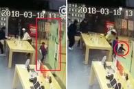 애플 스토어 유리문 파손으로 4살 아이 부상당해