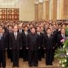 정상회담 앞둔 北… 김정은, 군부 없이 조용한 태양절 행사