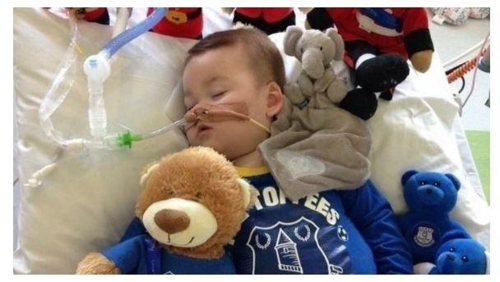 퇴행성 뇌질환을 앓는 23개월 아기 알피 에번스 [출처 :청원사이트(www.change.org)] 연합뉴스