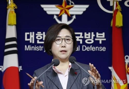 브리핑하는 최현수 국방부 대변인 [연합뉴스 자료사진]