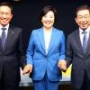 [서울포토] 손 맞잡은 민주당 서울시장 예비후보