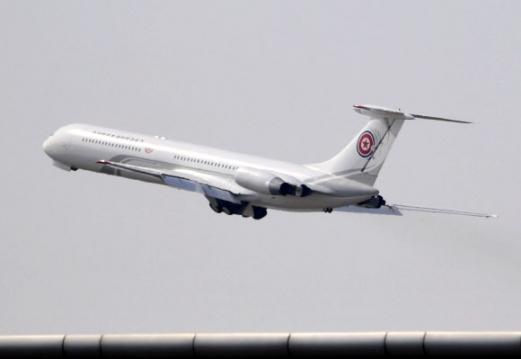 북한 요인 전용기, 중국 다롄 공항 이륙 중국 랴오닝(遼寧) 성 다롄(大連) 공항에서 북한 요인 전용기가 이륙했다고 교도통신이 8일 보도했다. 2018.5.8 다롄 교도=연합뉴스