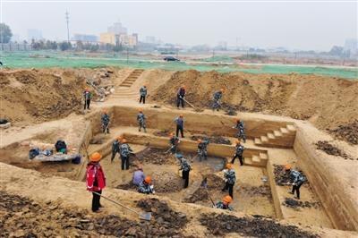 낙랑 사람 한현도 무덤 발굴현장. 북경시에서 낙랑군 조선현 사람 한현도의 무덤이 발굴됐다.