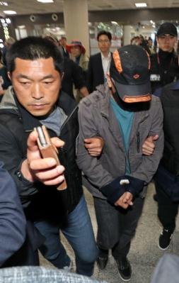 제주로 압송된 보육교사 살인 피의자