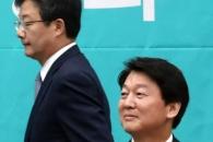 [포토] '껄끄러운 사이?' 안철수 후보 지나치는 유승…