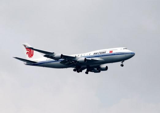 김정은 북한 국무위원장이 지난 10일 북미정상회담이 열리는 싱가포르를 방문하기 위해 이용한 보잉 747기. 싱가포르 로이터 자료사진=연합뉴스