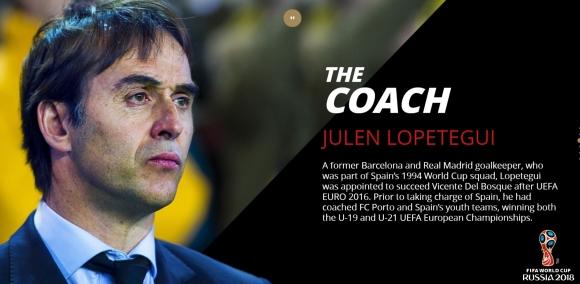 훌렌 로페테기 스페인 국가대표팀 감독 - FIFA 홈페이지 캡처
