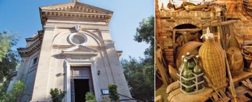 이탈리아 로마에 있는 트레폰타네 수도원(왼쪽). 사도 바울의 참수터로 유명한 곳으로 2015년부터 트라피스트 협회의 인증을 받은 맥주를 생산하고 있다. 오른쪽은 벨기에 브뤼셀의 맥주 박물관 내부 모습. 맥주를 만들던 도구들이 전시돼 있다.