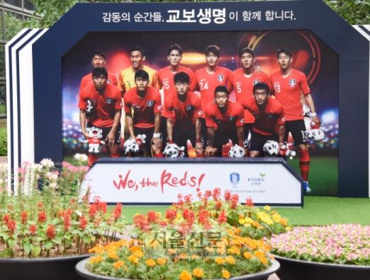 [포토인사이트] 'We, the Reds!' 2018 러시아 월드컵에 출전하는 한국 대표팀은 18일 오후 9시 러시아 니즈니 노브고로드에서 스웨덴과 첫 경기를 펼치게 된다. 2018.06.14. 최해국 선임기자 seaworld@seoul.co.kr