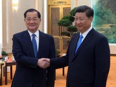 롄잔(왼쪽) 대만 국민당 전 주석과 시진핑 중국 국가주석 출처:바이두
