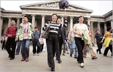 유럽 여행 중인 중국인 단체 관광객 출처: 차이나 데일리
