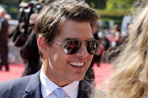 할리우드 배우 톰 크루즈가 12일(현지시간) 프랑스 파리에서 열린 '미션 임파서블:폴아웃 (Mission Impossible:Fallout)' 시사회에 참석했다. AP 연합뉴스