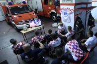 4강행 승부차기 도중 출동 명령 떨어진 크로아티아 소방관들 반응