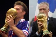 [포토] 프랑스 데샹 감독, 월드컵 우승 트로피에 '두…