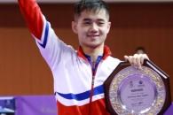 [포토] '코리아오픈' 북한 첫 우승 선수는 '함유성'