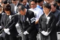 [서울포토] 故 노회찬 의원 영결식… 묵념하는 유족들
