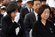 [서울포토] 故 노회찬 의원 영결식서 눈물 흘리는 이정…