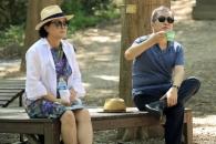 [포토] '커플모자' 문 대통령 내외, 여유로운 휴가