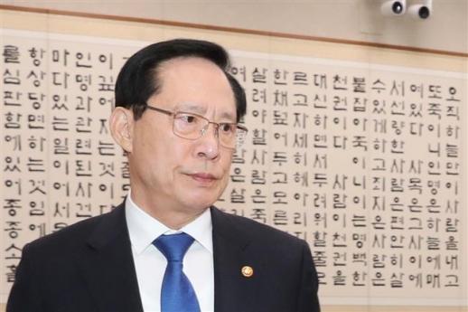 송영무 국방부 장관. 연합뉴스
