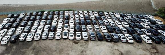 평택으로 이동한 BMW 리콜 차량