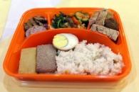 [포토] 이산가족 상봉 행사에 북측이 준비한 점심 도시…