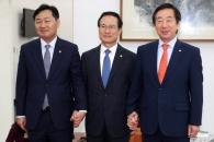 여야 3당 원내대표 회동…쟁점법안 논의 재개