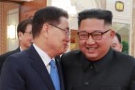 [포토] '귓속말 나누며 웃음꽃' 김정은-정의용