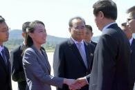 [포토] 김여정,'중국 서열 3위' 평양공항서 맞이
