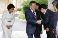 [서울포토] '남북 정상회담' 청와대 관저 출발하는 …
