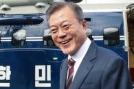 [서울포토] '남북 정상회담' 헬기 오르기 전 밝게 웃…