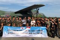 강진 피해 인니 구호 떠나는 한국 장병들