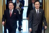 [포토] 회담장으로 들어서는 남북 수석대표