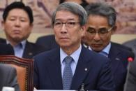 [서울포토] 국정감사에 증인으로 출석한 정운찬 KBO 총…