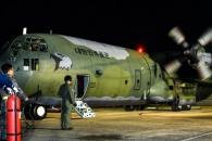 [포토] 공군 수송기 사이판 급파…관광객·교민 이송