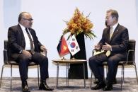 문대통령-파푸아뉴기니 총리 정상회담…해양·수산협력…