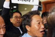 [서울포토] '이학재는 정보위원장직 내려놔라!'