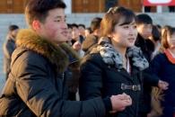 [포토] 북한 기념 무도회에서 춤추는 청년학생들