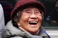 [포토] 환한 표정의 김금옥 할머니