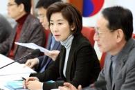 [서울포토] 나경원 원내대표, 청와대 특감반 의혹 회의…